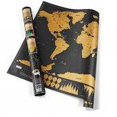 Dünya Haritası Scratch Map Kazıma Poster Haritası Deluxe