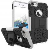 Edelfalke Apple İphone 6 Plus Kılıf Hibrit Silikon Kapak Beyaz