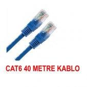 40 Metre Cat6 İnternet Ethernet Kablosu Fabrikasyon Rj45 Bst 2045