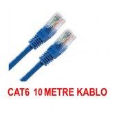 10 Metre Cat6 İnternet Ethernet Kablosu Fabrikasyon Rj45 Bst 2075