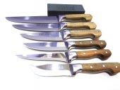 Mutfak Bıçak Seti 6' Lı Lazoğlu Sürmene Bilezikli Orijinal El Yapimi
