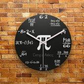 Fmc1362 Matematik Öğretmenine Hediye Mdf Ahşap Duvar Saati 39cm
