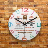 Fmc1264 Anneler Gününe Özel Anne Terliği Mdf Duvar Saati 39cm