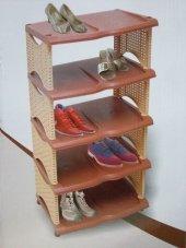 Rattan Ayakkabılık Dekoratif 5 Katlı Ayakkabılık Ücretsiz Kargo