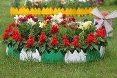 32 Adet Dekoratif Renkli Geçirmeli Bahçe Çiti 17cm X32adet 544 Cm
