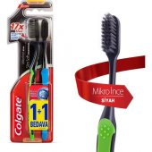 Colgate Diş Fırçası Mikro İnce Siyah 1+1 Yumuşak...