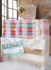 Evinize Moda İğne Oya File 50x90 6 Lı Havlu