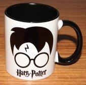 Harry Potter Gözlüklü Baskılı İçi Ve Kulpu Renkli Porselen Kupa
