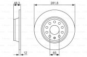 Seat Alhambra 1.4 Tsı 2010 2015 Bosch Arka Fren Diski 2 Adet