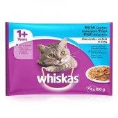 Whiskas 4lü Pouch Balık Çeşitleri