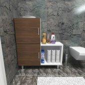 Moonlife 2 Kapaklı L Çok Amaçlı Banyo Dolabı Ceviz