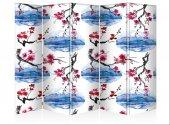 Badem Çiçekleri Beş Kanat Kanvas Paravan