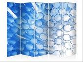 Mavi Balonlar Beş Kanat Kanvas Paravan