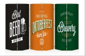 Beer Oktoberfest Kanvas 6 Kanat Paravan