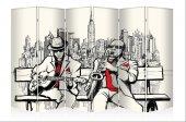 Sokak Müzisyenleri Kanvas 6 Kanat Paravan
