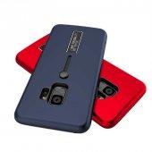 Samsung Galaxy S9 Kılıf Lopard Olive Standlı Kapak