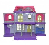 Oyuncak Barbie Evi İki Katlı 8 Parça Aksesuarlı