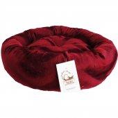 Maskot Bordo Simit Kedi Ve Köpek Yatağı 50 Cm