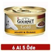 Gourmet Gold Hindili Ördekli Kedi Konserve 85 Gr 6 Al 5 Öde