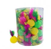 Kedi Oyuncağı Tüylü Plastik Top