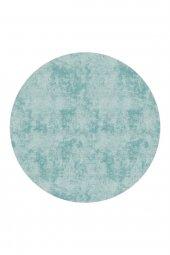 Passion 2092 Cm 160x160cm Yuvarlak Mavi Kaydırmaz Halı