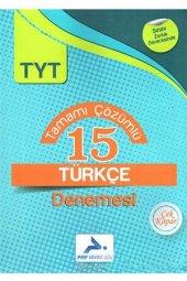 Paraf Yayınları Tyt Çözümlü 15 Türkçe Denemesi