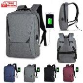My Valice Smart Bag Actıve Usb Şarj Girişli Slim Sırt Çantası