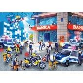 Puzzle Evi Hırsız Polis Banka Frame Puzzle 28 Parç...