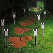 Güneş Enerjili Bahçe Lambası Solar Aydınlatma (10 Adet)