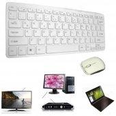 Kingboss Kablosuz Q Ing Klavye Mouse Set 2.4ghz Beyaz