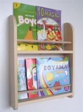 çocuk Odası Dekor Ahşap Soft Montessori Mini Kitap...