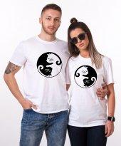 Tshirthane Cat Yingyang Sevgili Kombini Tişörtleri