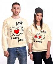 Tshirthane Mr. Mrs. Kalp Sevgili Kombinleri Sweatshirt