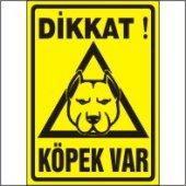 Dikkat Köpek Var Uyarı Levhası (Pitbull) 25x35 Cm Galvaniz