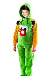 Baskılı Erkek Çocuk Pijama Takımı Kapüşonlu Polar