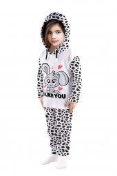 Tavşan Baskılı Mevsimlik Kız Çocuk Takım
