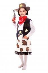 Kız Kovboy Kostümü Çocuk Kıyafeti