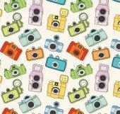 Pop Art 512091 Fotoğraf Makinası Görünümlü Duvar Kağıdı