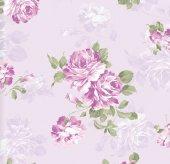Floral Collection 5073 Lila Çiçekli Duvar Kağıdı