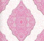 Classic Collection 4351 Pembe Damask Desenli Duvar Kağıdı