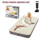 Intex 64707 Şişme Yatak İntex Pompa Hediyeli Set