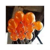 100 Adet Metalik Sedefli Turuncu Balon 1.kalite