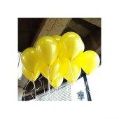 100 Adet Metalik Sedefli Sarı Balon 1.kalite