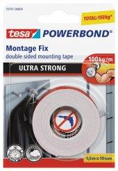 Tesa Powerbond Ultra Güçlü 1.5 M X 19 Mm Çift Taraflı Köpük Mont