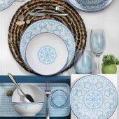 Kütahya Porselen 596614 Desen 24 Parça 6 Kişilik Yemek Takımı