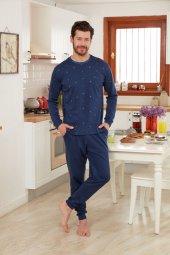 Dagi Erkek Pijama Takımı Lacivert Ese0218k0014lc