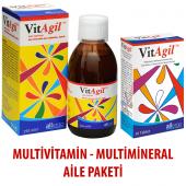 Vitagil 250 Ml Şurup Ve 30 Tablet Multivitamin + Multimineral Aile Paketi