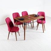 Evform Yakut 4 Sandalyeli Mutfak Masası Salon Yemek Masa Takımı