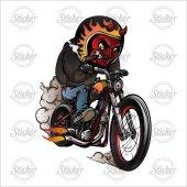 Motosikletli Şeytan Sticker 20046
