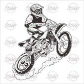 Cross Motosiklet Sticker 14087